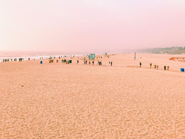 サンタモニカのビーチ(カリフォルニア)の写真