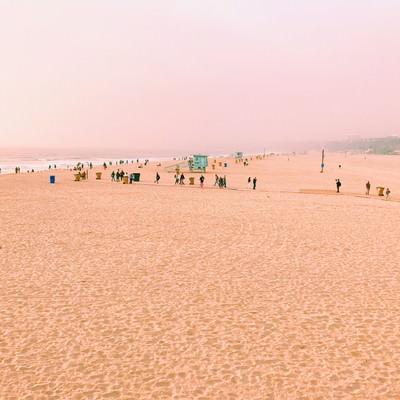 「サンタモニカのビーチ(カリフォルニア)」の写真素材