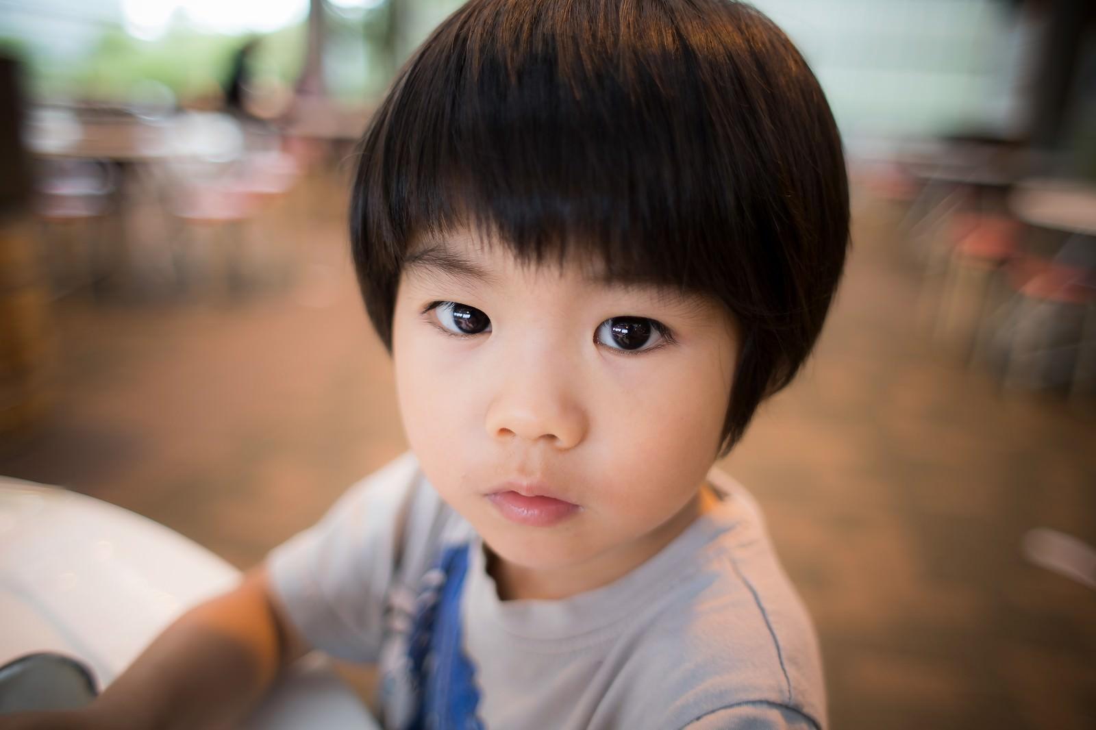 「ずっと撮影してくる親を不思議がる我が子ずっと撮影してくる親を不思議がる我が子」のフリー写真素材を拡大