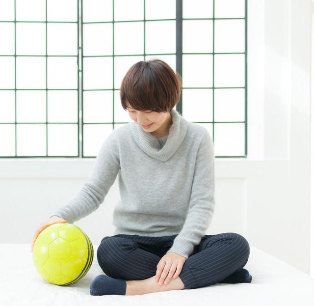 恋人はサッカーボールの写真