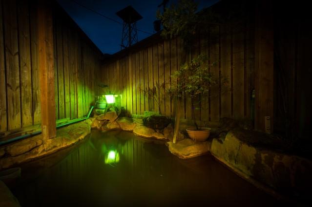 登山の疲れを癒やす栄太郎の源泉かけ流し露天風呂の写真
