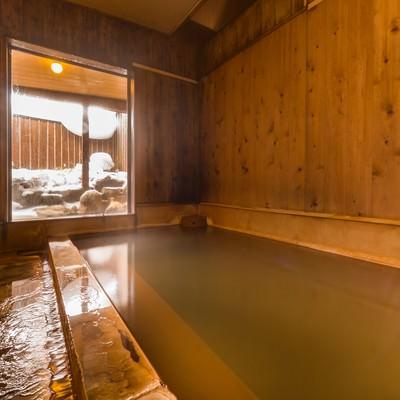 「重曹成分が強く肌がすべすべになる栄太郎の美肌の湯」の写真素材