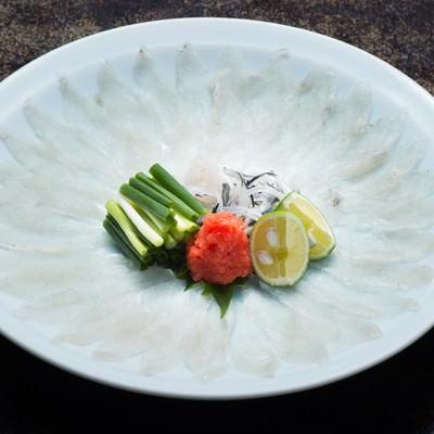 「栄太郎冬の味覚である飛騨ふぐのテッサ」の写真素材
