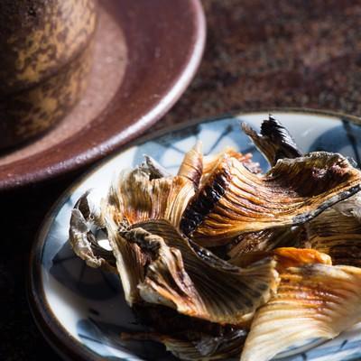 「日本酒の肴に最高な飛騨ふぐのヒレ」の写真素材