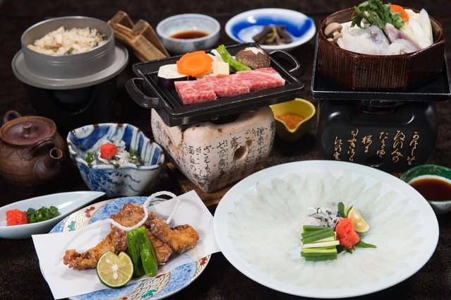 飛騨ふぐと飛騨牛の贅の極み(料理宿栄太郎)の写真