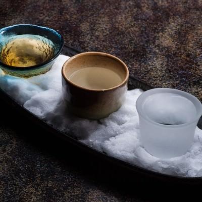 「飛騨の地酒利き酒セット」の写真素材