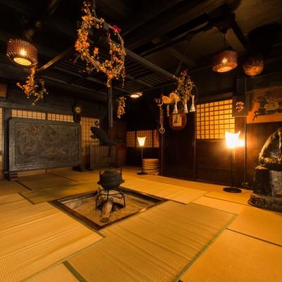 「平湯温泉最古の建物である平湯館旧館」の写真素材