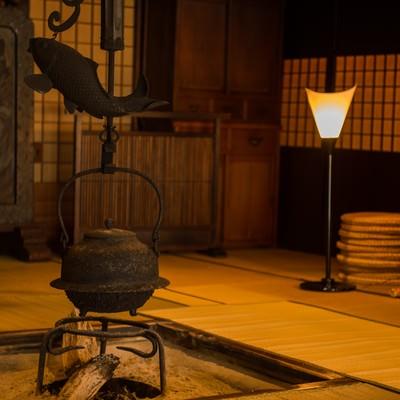 「純日本を味わえる老舗宿平湯館の旧館」の写真素材