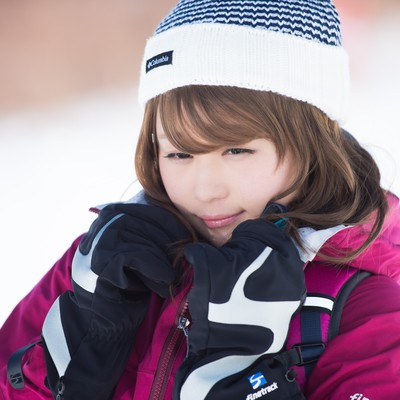 「氷点下10度の寒さから守るウェア」の写真素材