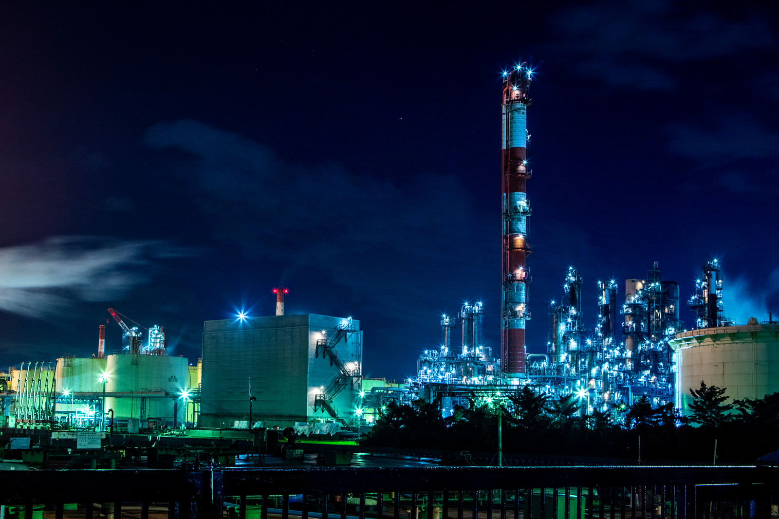 「川崎の工場夜景」の写真
