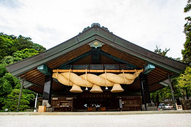 出雲大社の神楽殿の写真