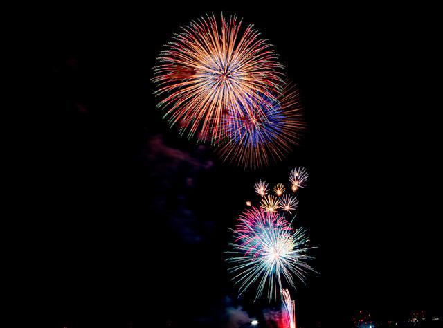 花火が打ち上がるの写真