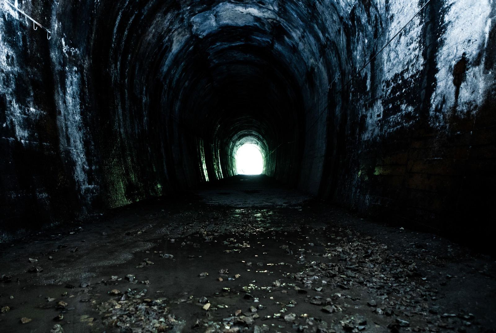 「不気味なトンネル(JR福知山線廃線敷)」の写真