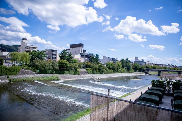 京都府を流れる一級河川(鴨川)の写真