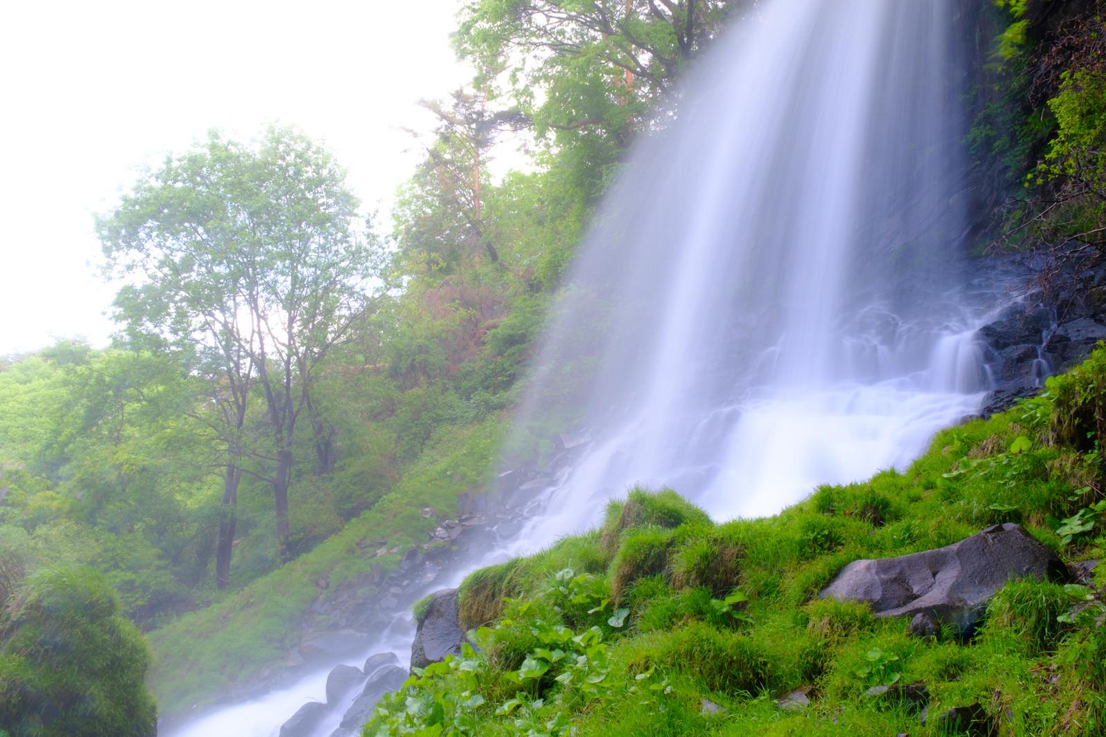 「横谷峡の乙女滝」の写真