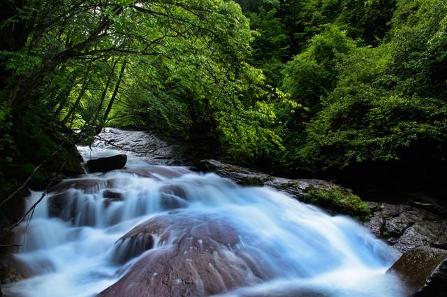 横谷峡の渓流の写真