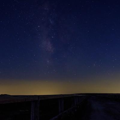 美ヶ原高原の星空の写真