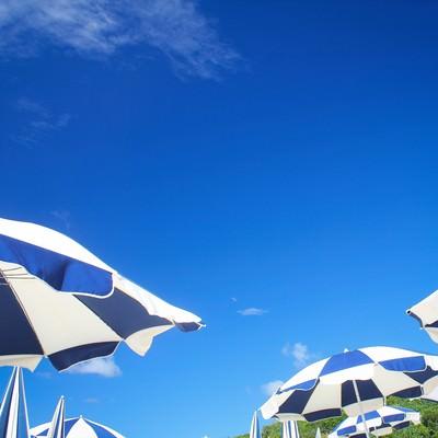「ビーチパラソル」の写真素材