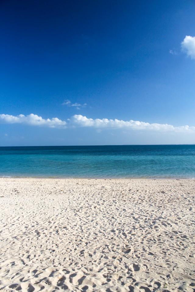 青い海、白い砂浜の写真