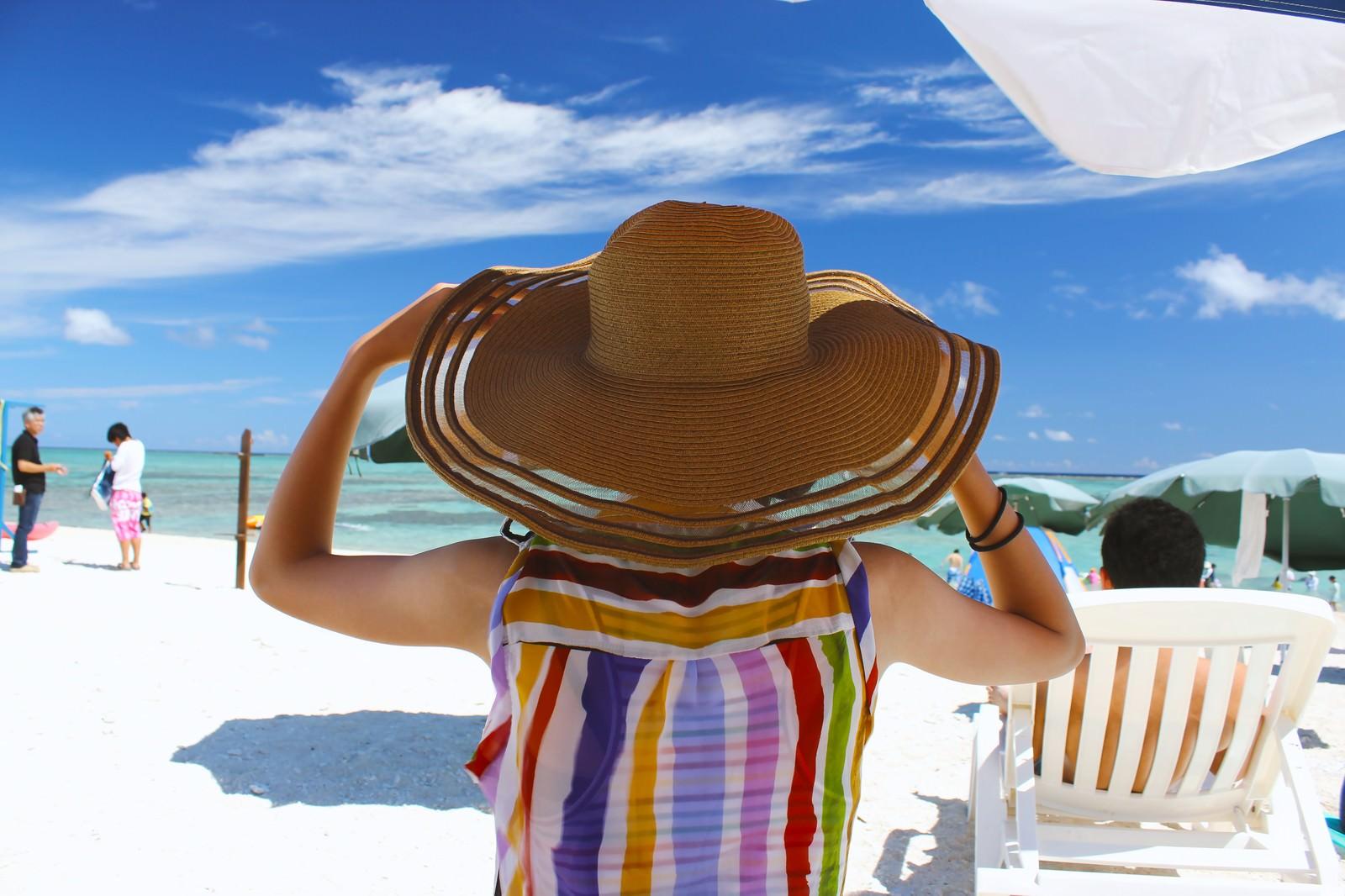 「沖縄の海と麦わら帽子沖縄の海と麦わら帽子」のフリー写真素材を拡大