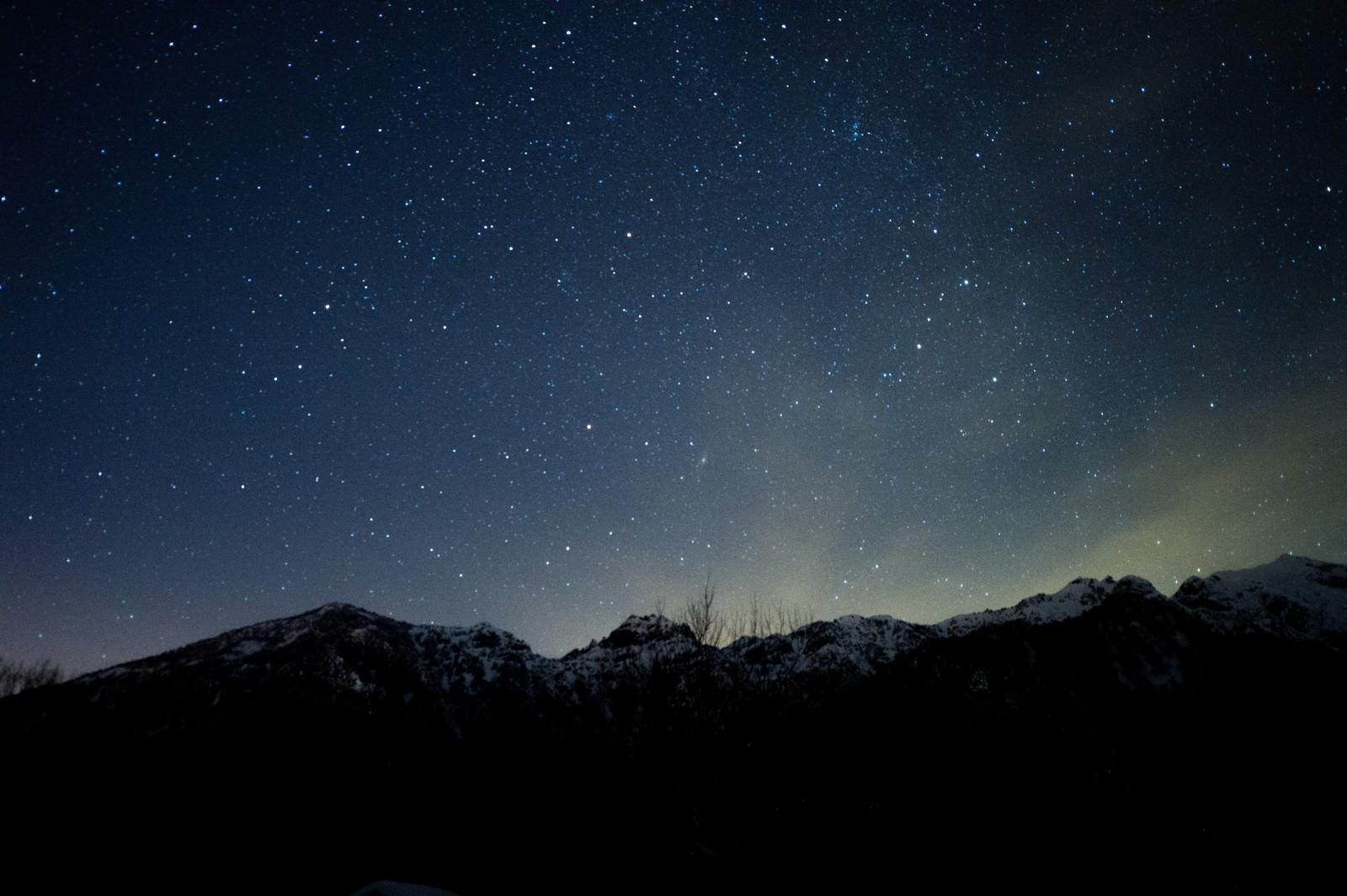 「北アルプス大橋からの夜空」の写真