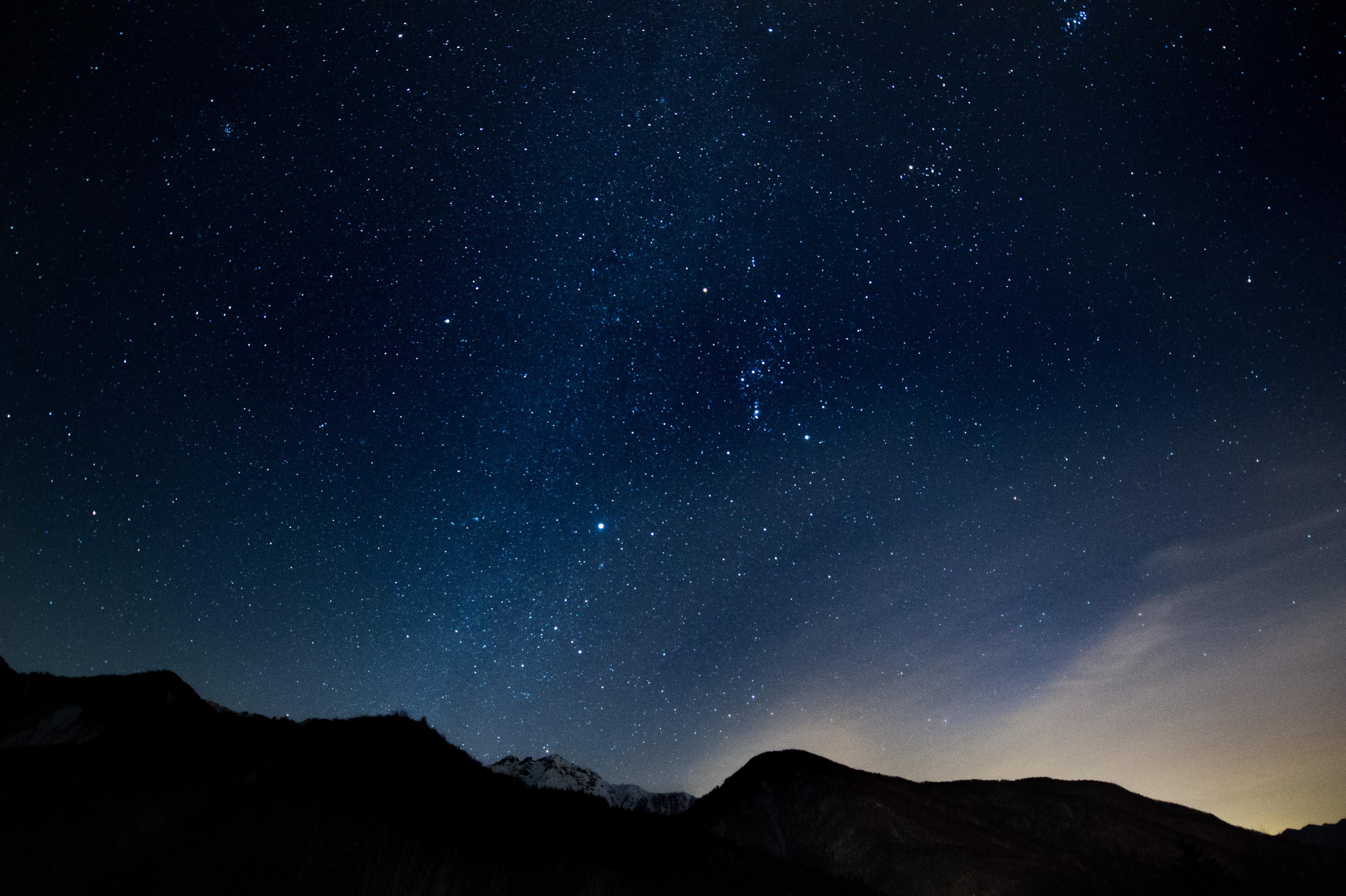 星空がキレイな北アルプス