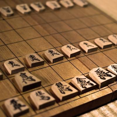 「古い折りたたみの将棋盤」の写真素材