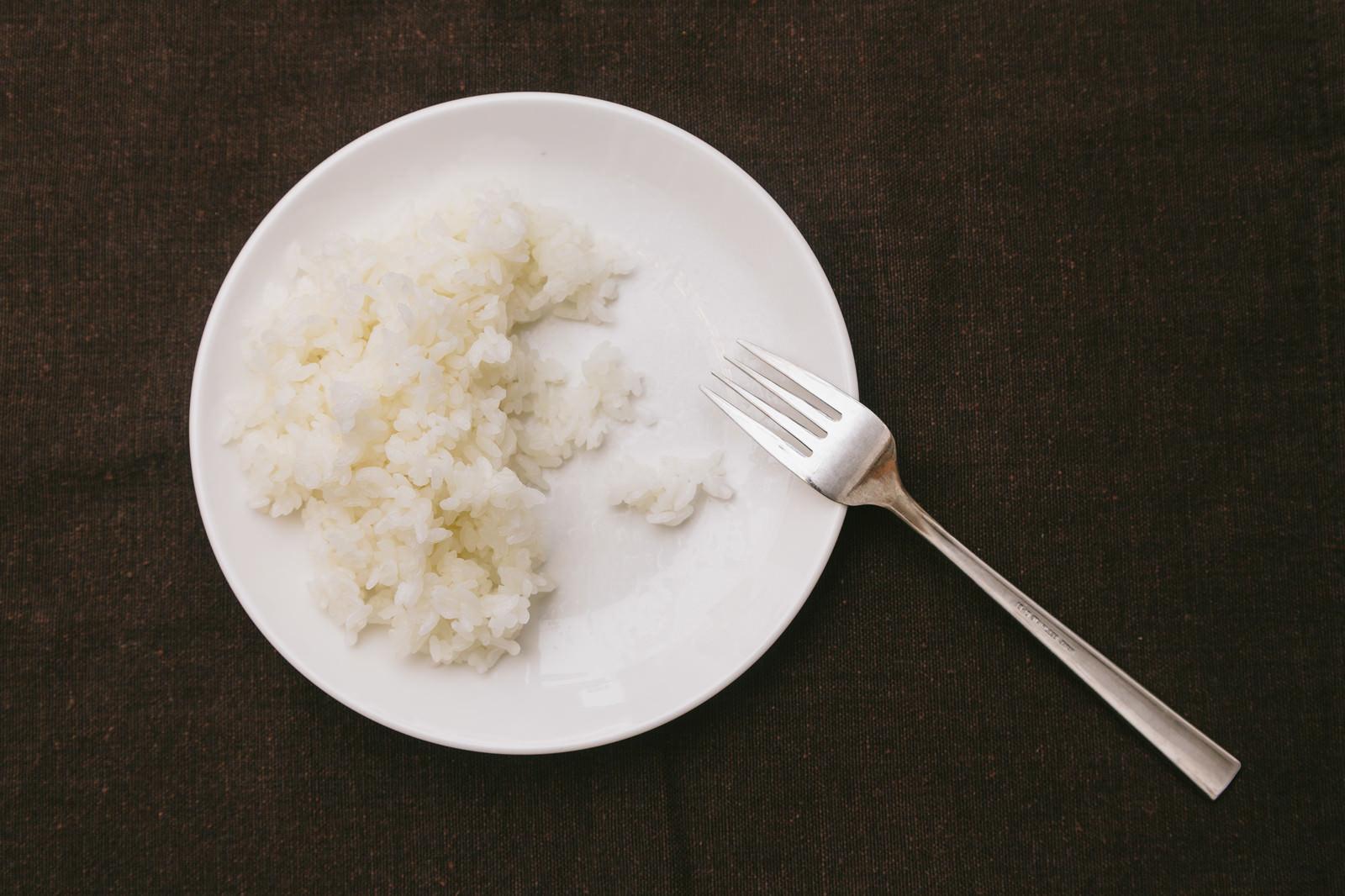 「ライス食べきれず」の写真