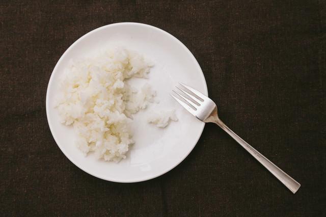 ライス食べきれずの写真