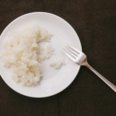 「ライス食べきれず」の写真素材