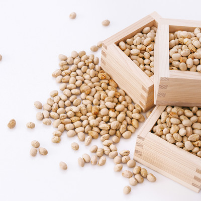 「節分の豆と枡」の写真素材