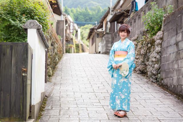 浴衣観光(伊万里市大川内山)の写真