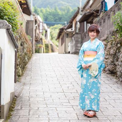 「浴衣観光(伊万里市大川内山)」の写真素材