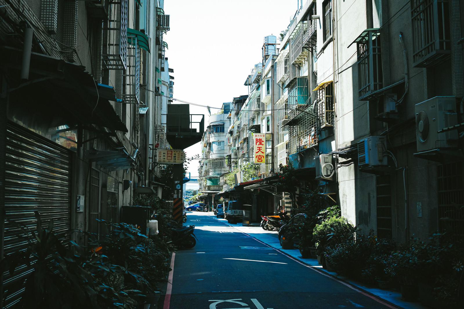 「サンチョンの路地(台湾)」の写真