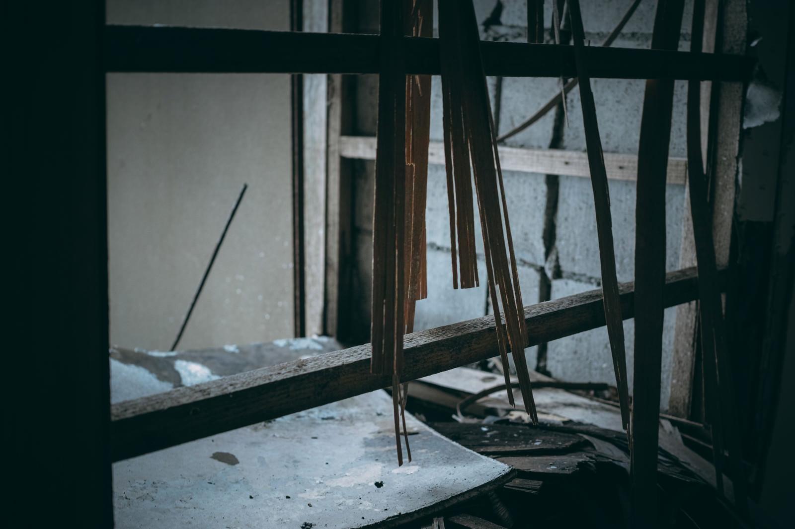 「思い出と共に崩れていく壁板」の写真