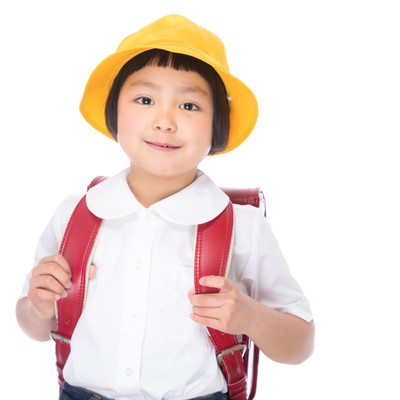 「ピカピカの一年生」の写真素材