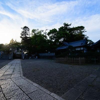 玉前神社の境内(千葉県一宮町)の写真