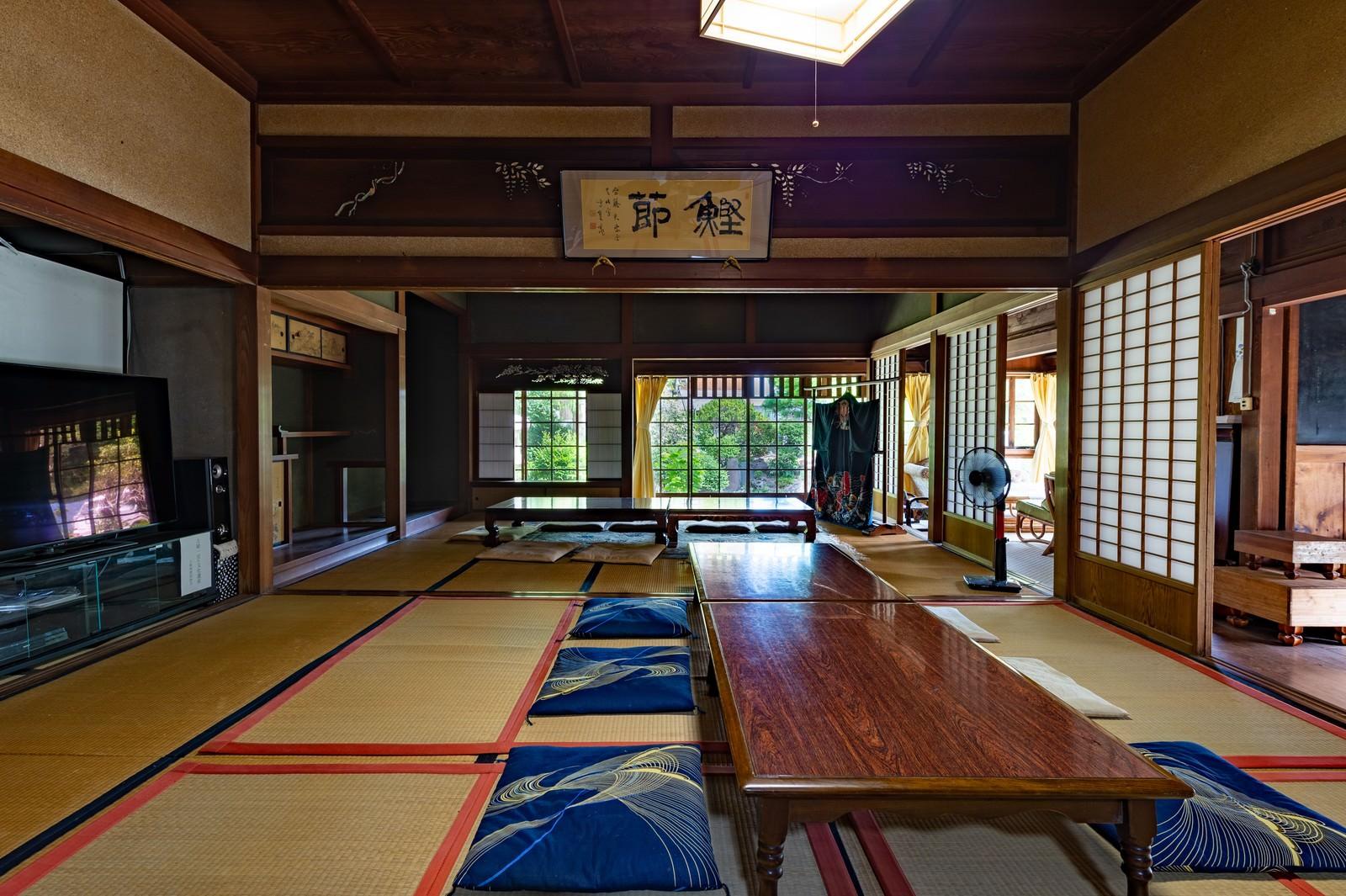 「歴史ある古民家の和室(千葉県一宮町)」の写真