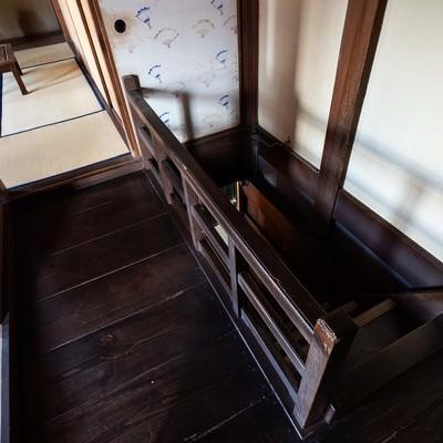 旧寿屋本家にある階段(千葉県一宮町)の写真