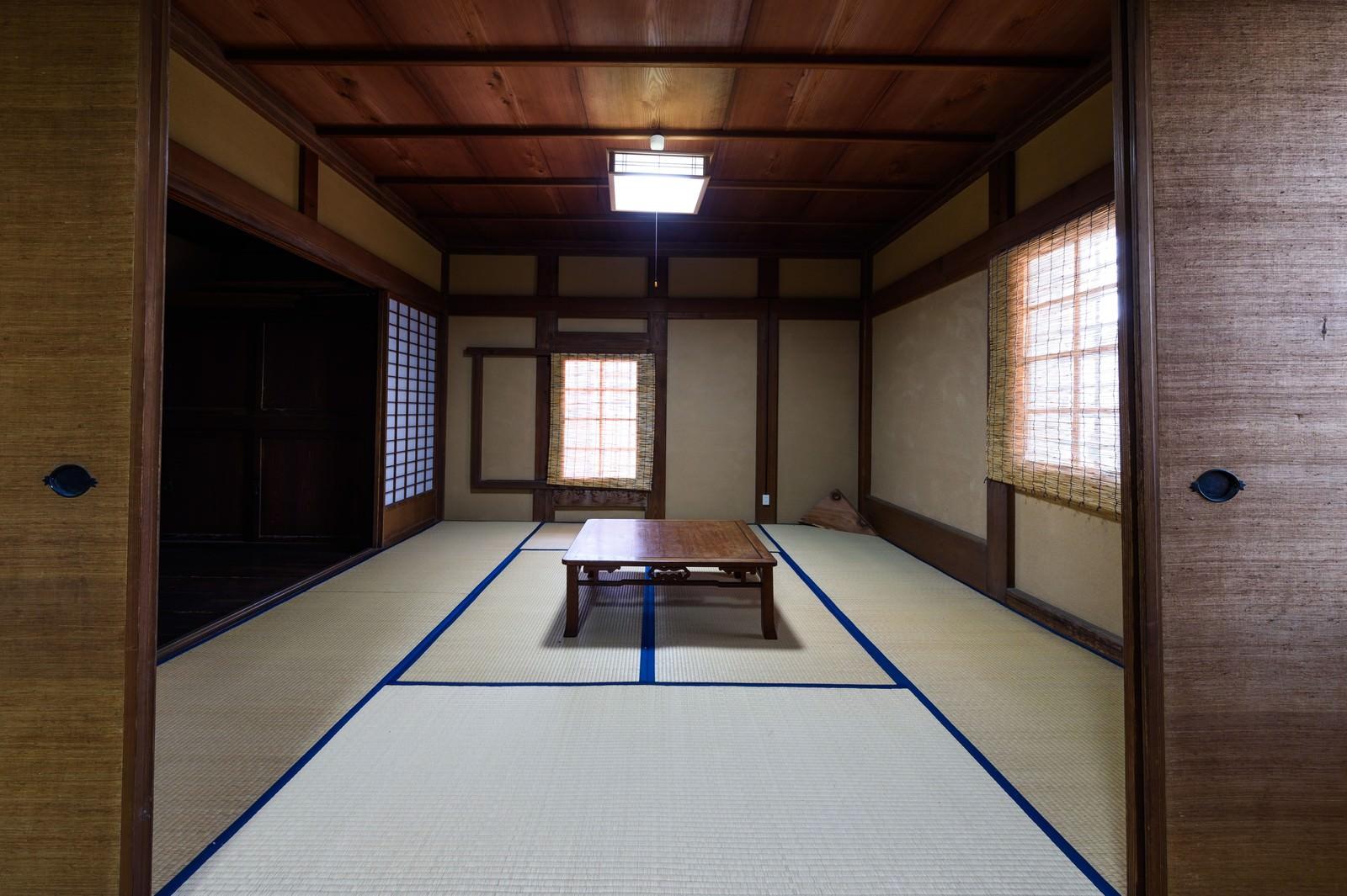 「古民家の和室(千葉県一宮町)」の写真