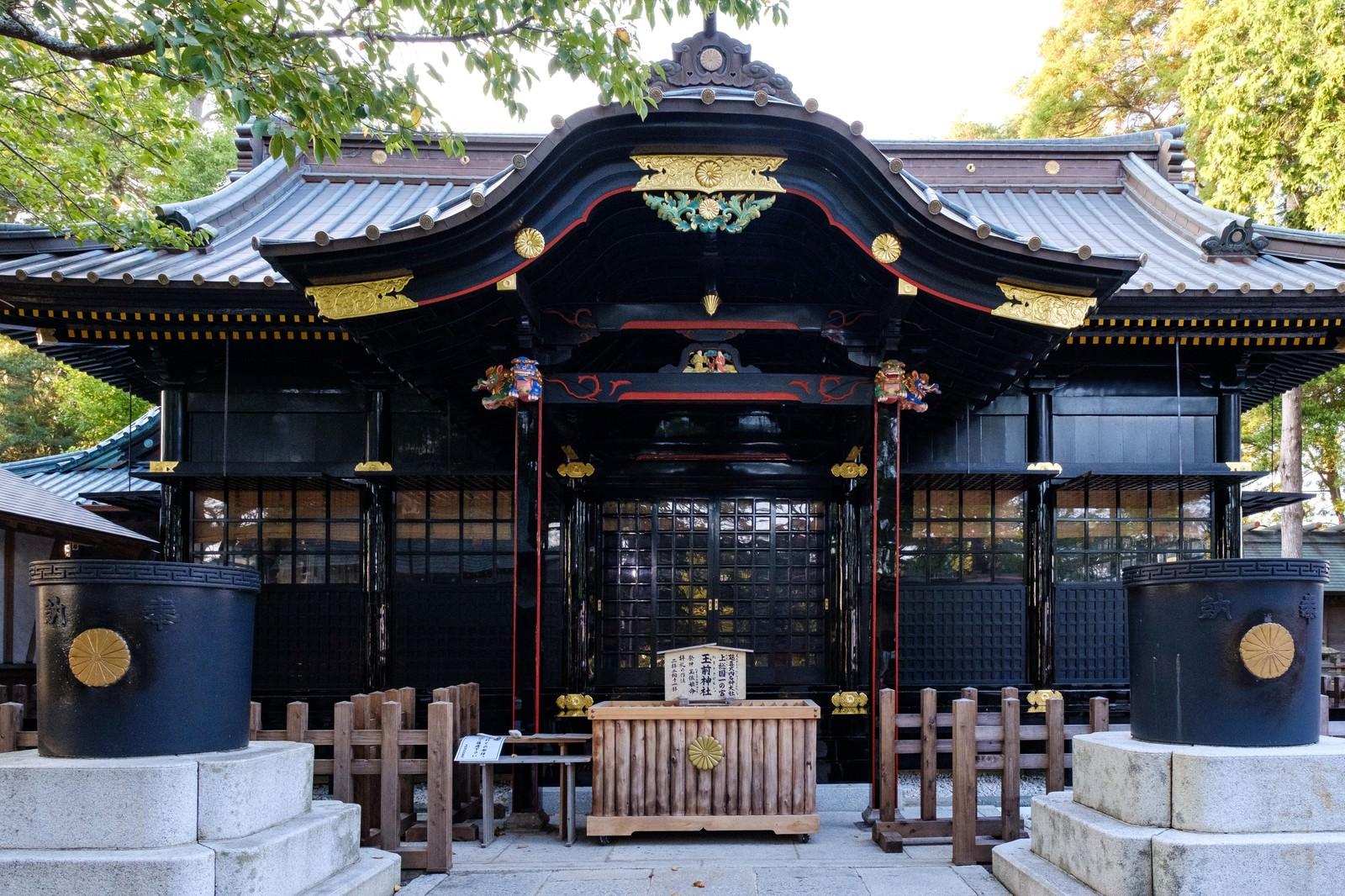 「玉前神社の本殿(千葉県一宮町)」の写真