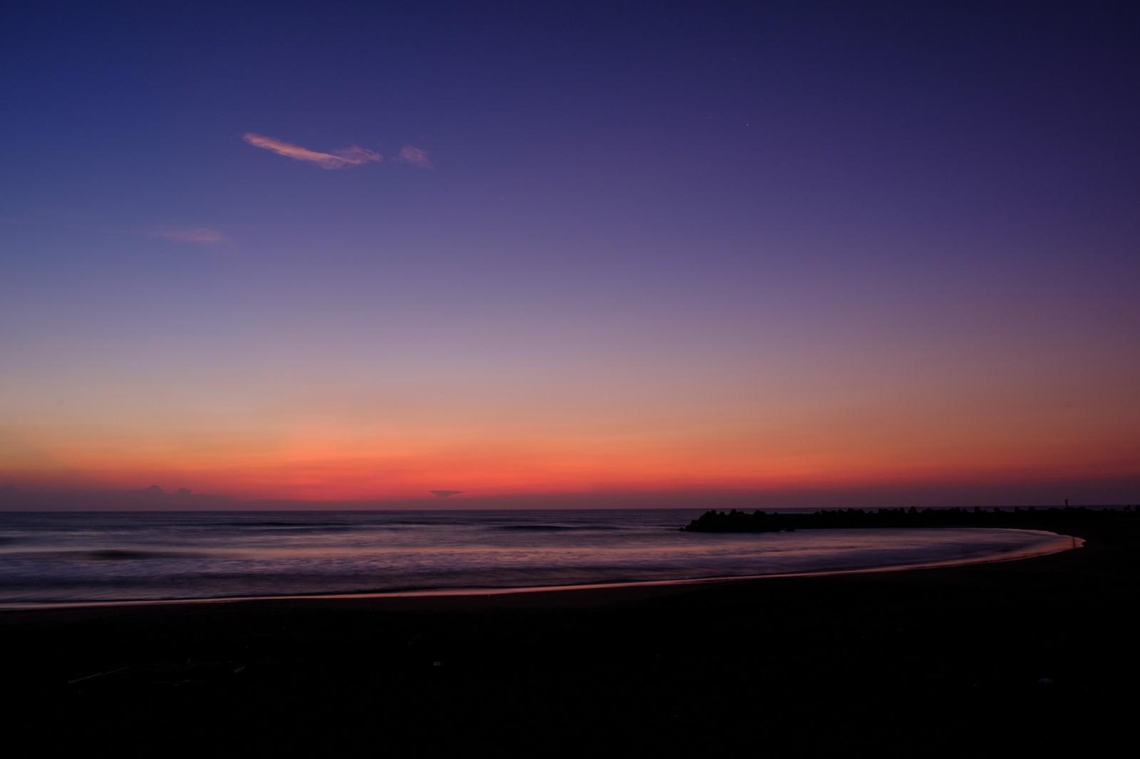「一宮海岸のトワイライト(千葉県一宮町)」の写真
