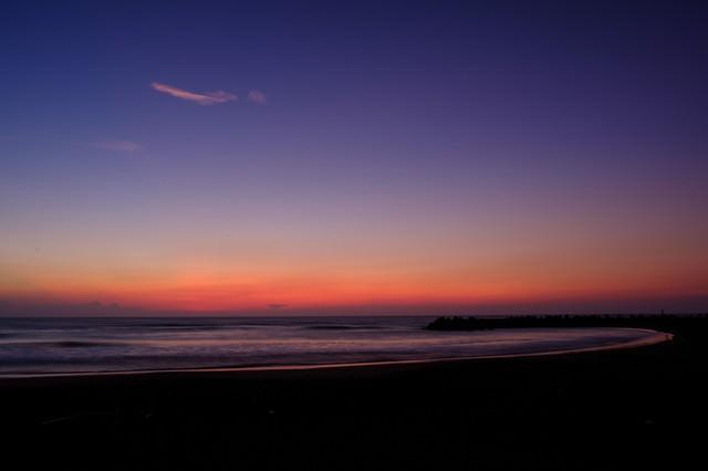 一宮海岸のトワイライト(千葉県一宮町)の写真