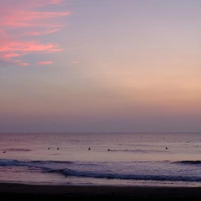 朝焼けの海(千葉県一宮町)の写真