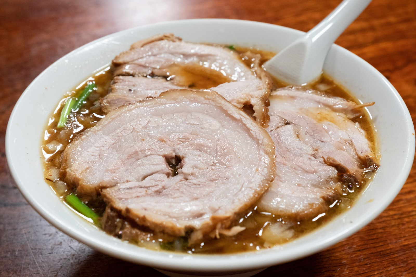 「ご当地ラーメンの蘭州麺(お食事処やちよ)」の写真