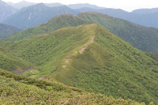 山の魅力を堪能することができる乗鞍新登山道の写真