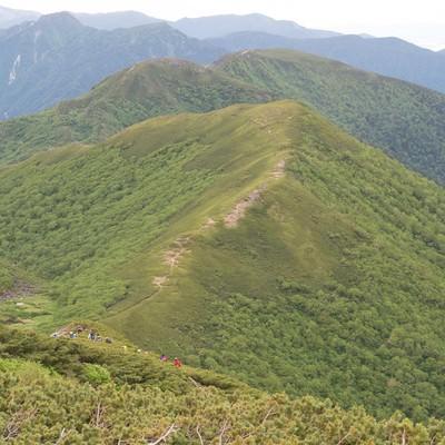 「山の魅力を堪能することができる乗鞍新登山道」の写真素材