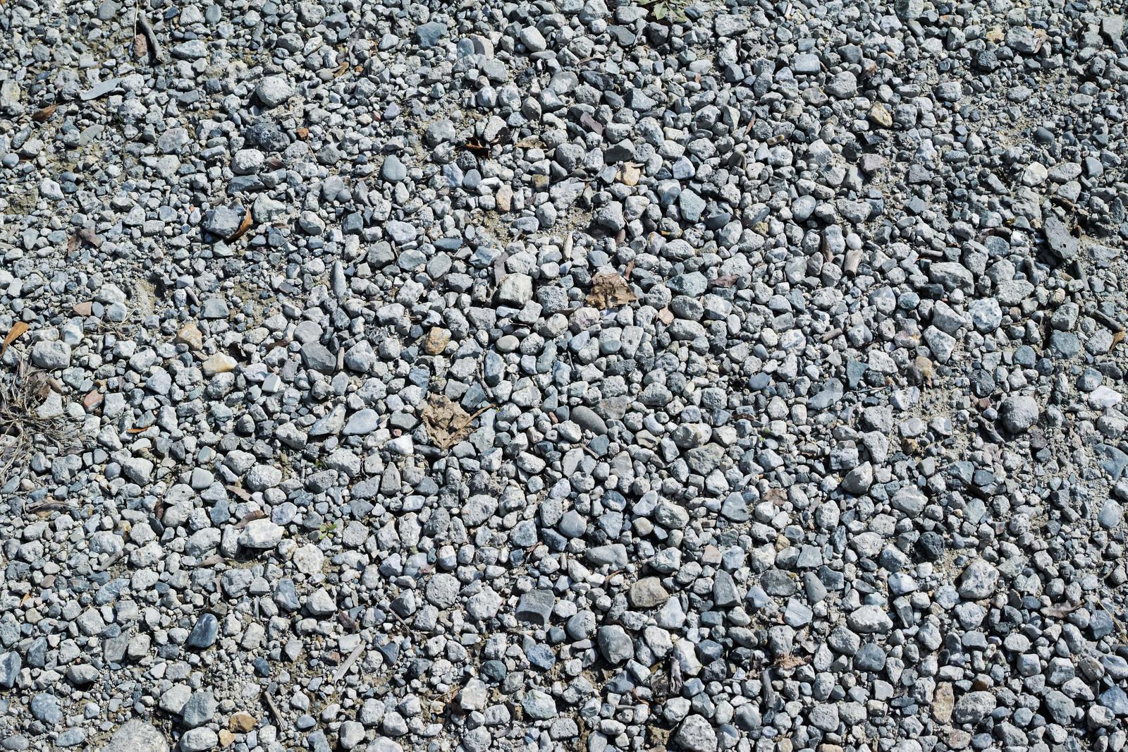 「砂利敷きの地面(テクスチャ)」の写真