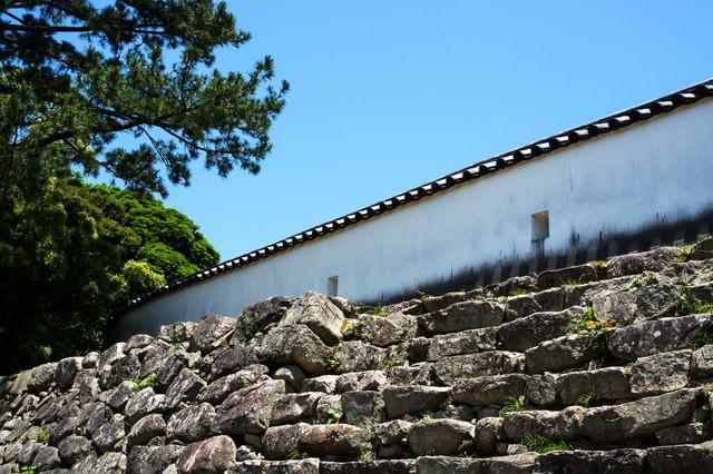 萩城の銃眼土塀の写真
