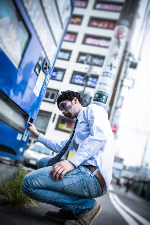 自販機で銭ゲバゾンビの写真